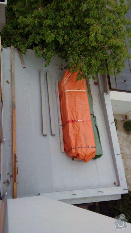 Stavba roštu a pokládka terasových prken cca 30m2: Terasa1