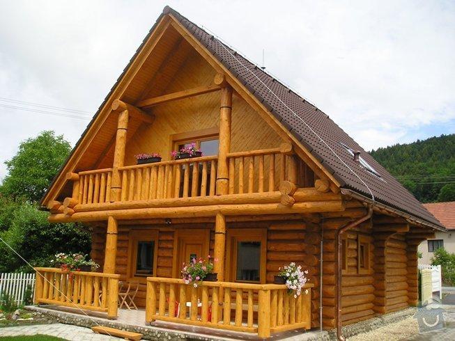 Dřevěné zábradlí na balkón u srubového domu: terasa_a_balkon_srubu