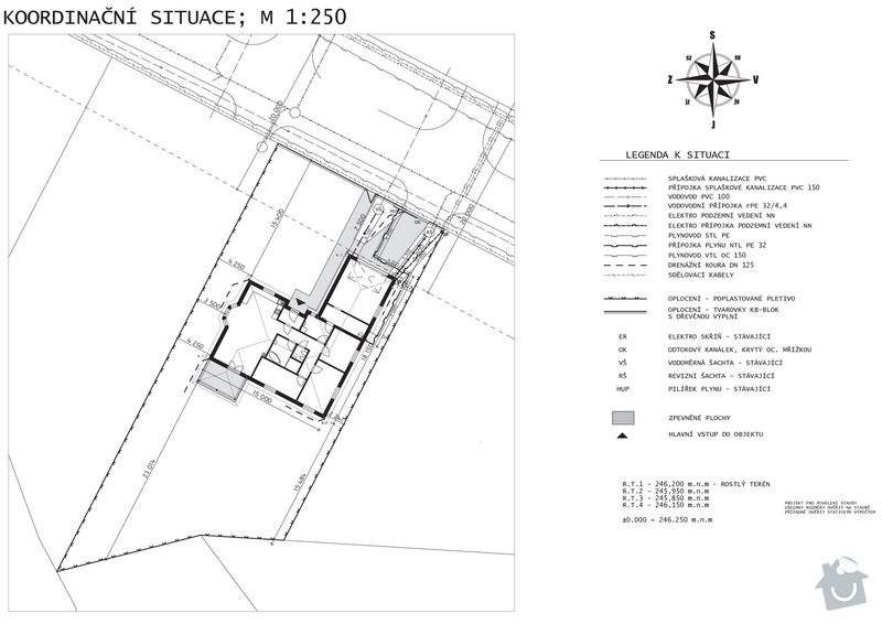 Stavba domu - bungalov: C3_Situace