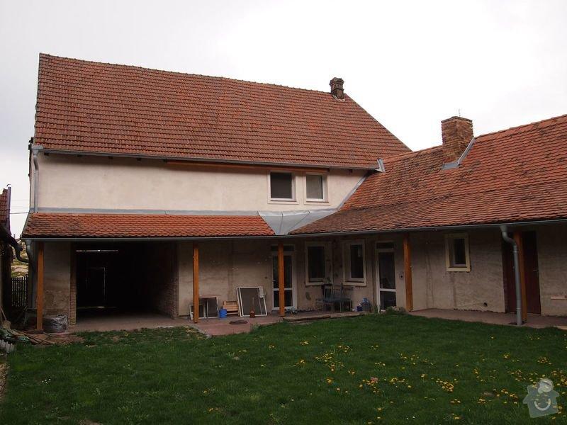 Zatepleni fasady cca 320m2: strana_ze_dvora___kuchyn