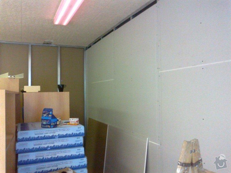 Sádrokartonová předstěna a strop pro obchod: 18042015793
