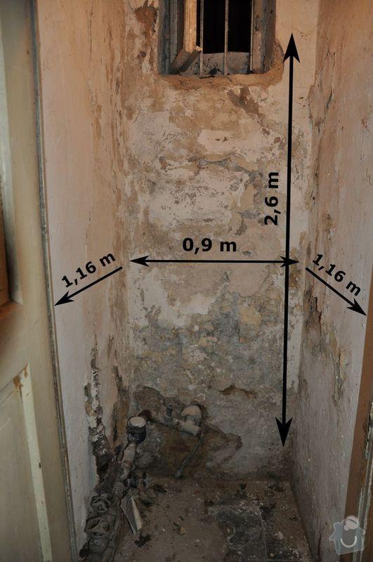 Oklepani vnitrni stare omytky na cihlove stene v suterenu: text4584