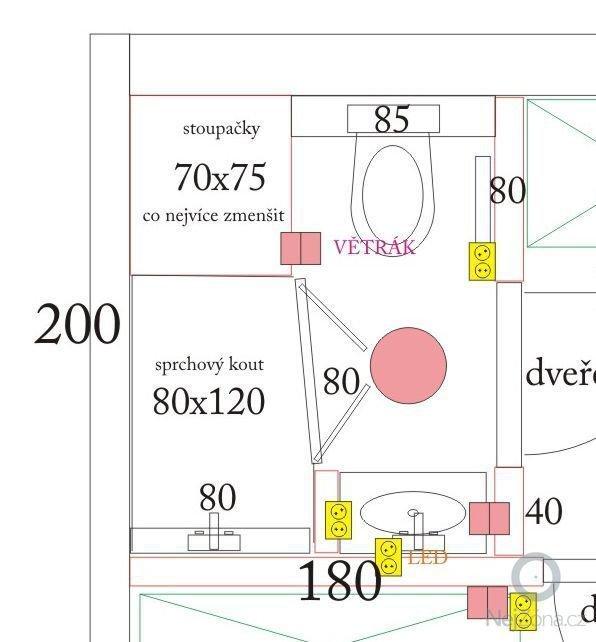 Obklad 2 koupelen o podlah. ploše 13m2: koupelna1