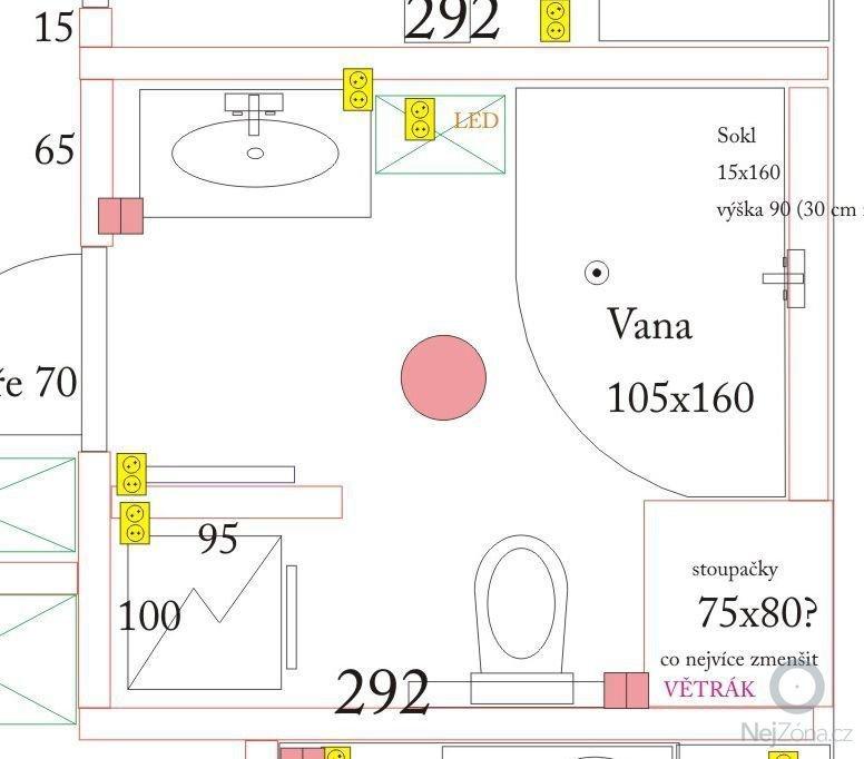 Obklad 2 koupelen o podlah. ploše 13m2: koupelna2