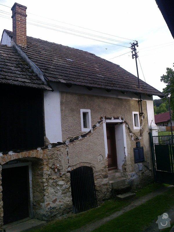 Rekonstrukce staré chalupy - tzv. vejminek + střecha na hlavní obytné budově + oplocení: Fotografie0562