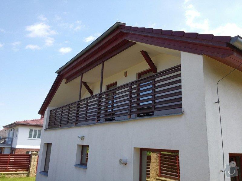 Obroušení a nátěr dřevěného balkonového zábradlí: 002