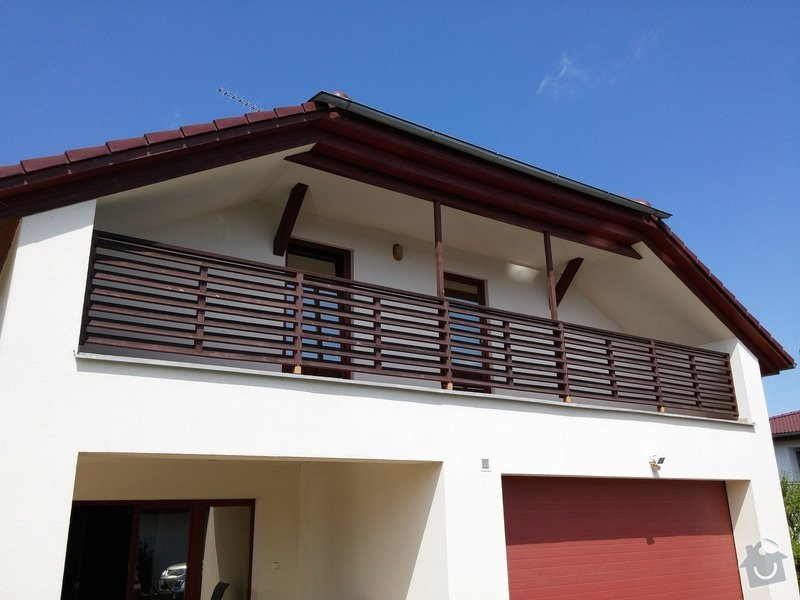 Obroušení a nátěr dřevěného balkonového zábradlí: 001