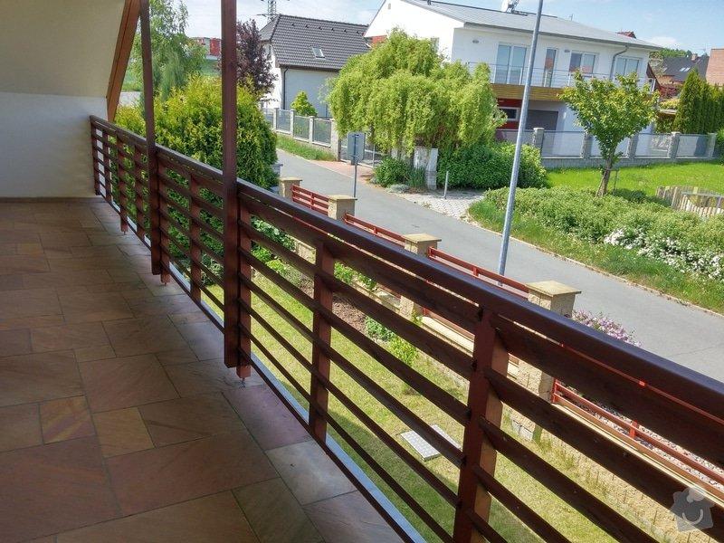 Obroušení a nátěr dřevěného balkonového zábradlí: 003