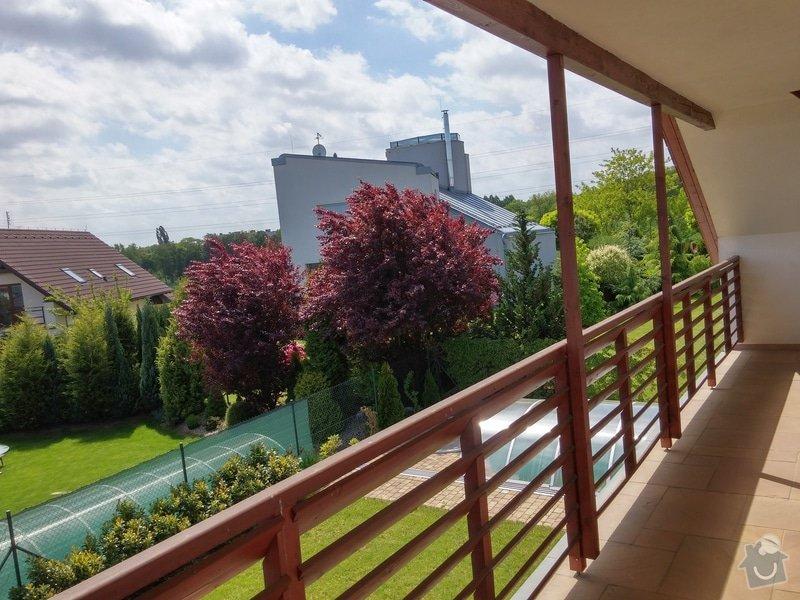 Obroušení a nátěr dřevěného balkonového zábradlí: 004
