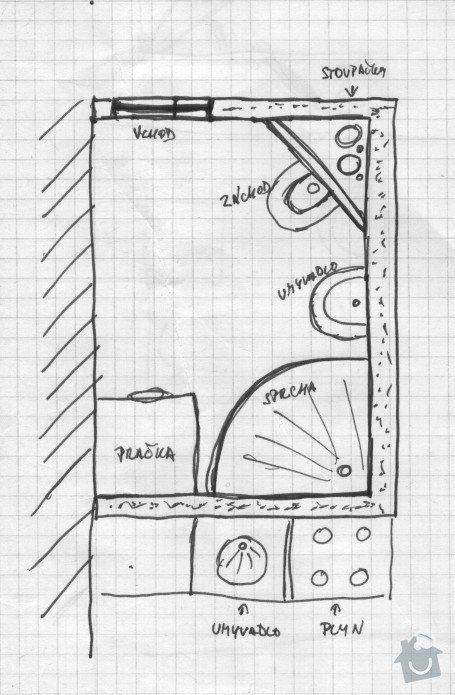 Rekonstrukce bytového jádra + vymalování bytu 2+1 cca 64 m.čt. : jadrabyt