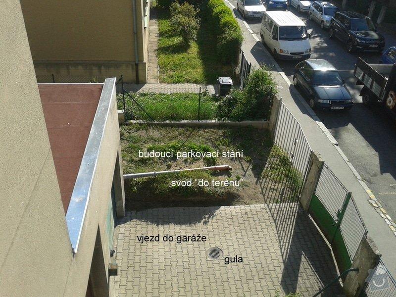 Realizace parkovacího stání a oprava plotu: 20150518_083345