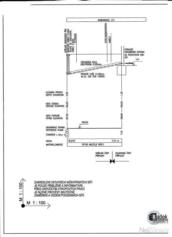 Rekonstrukce vodovodní přípojky: 001