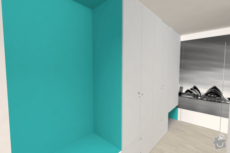 Vestavěný nábytek do bytu: chodba_2b
