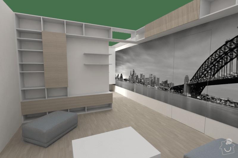 Vestavěný nábytek do bytu: obyv_2a
