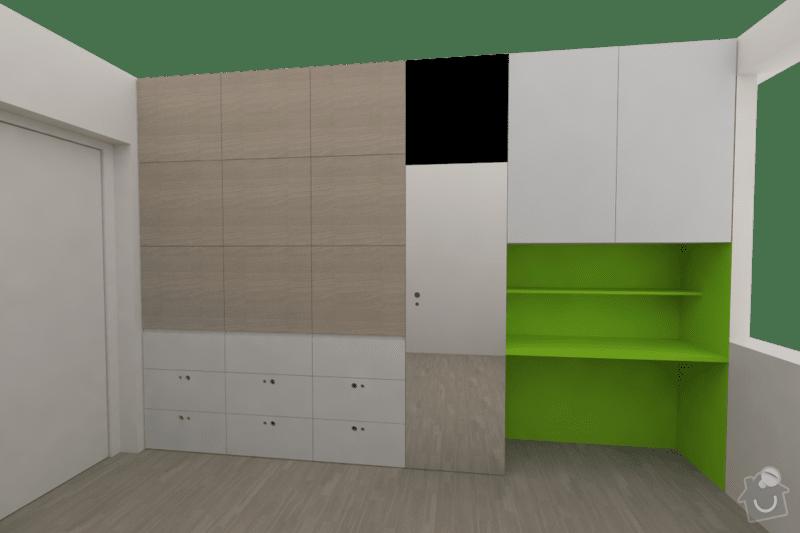 Vestavěný nábytek do bytu: loznice_1a