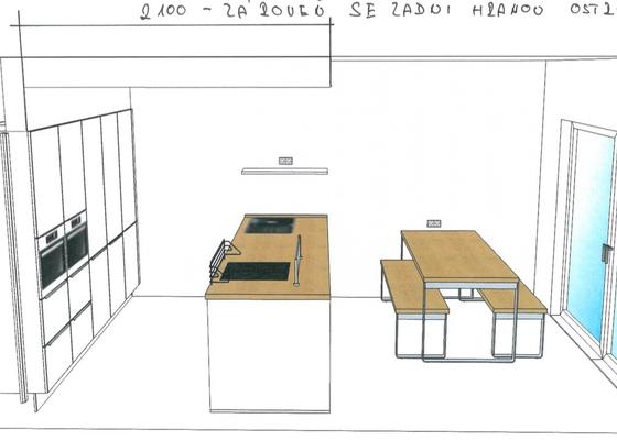 Příprava na instalace nové kuchyňské linky