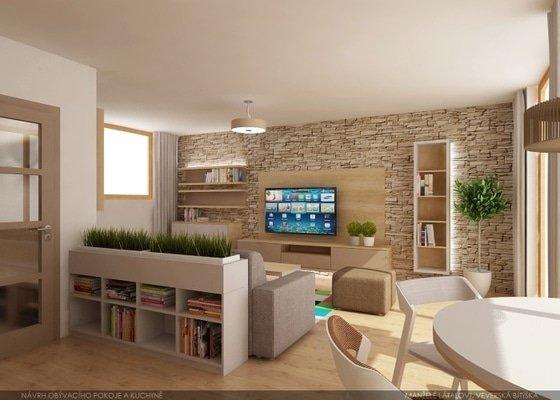 Návrh pokoje obývák + kuchyně