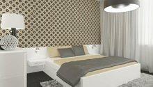 Návrh retro ložnice v decentních barvách