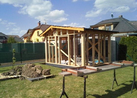Tesařské práce - výroba a montáž nářáďového domku