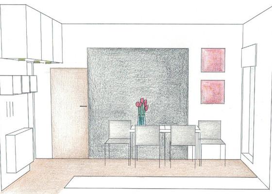 Dovybavení kuchyně a chodby nábytkem