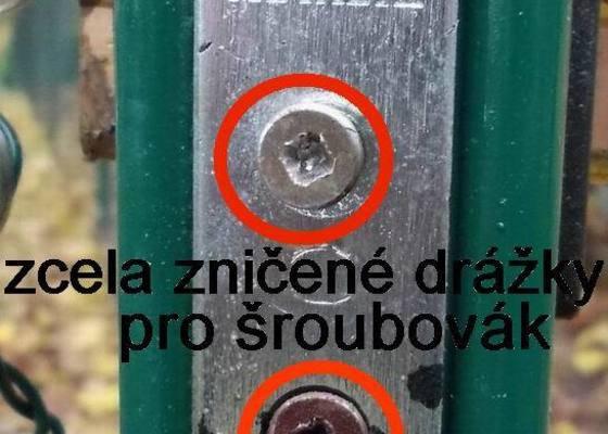 Nový plot-pletivo-Kamenný Újezd