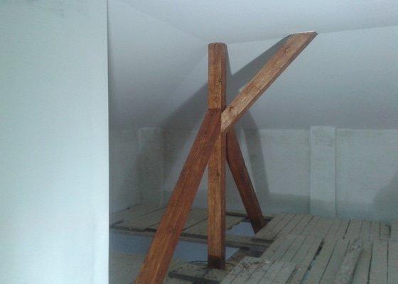 Sádrokartonářské práce - šikmá střecha