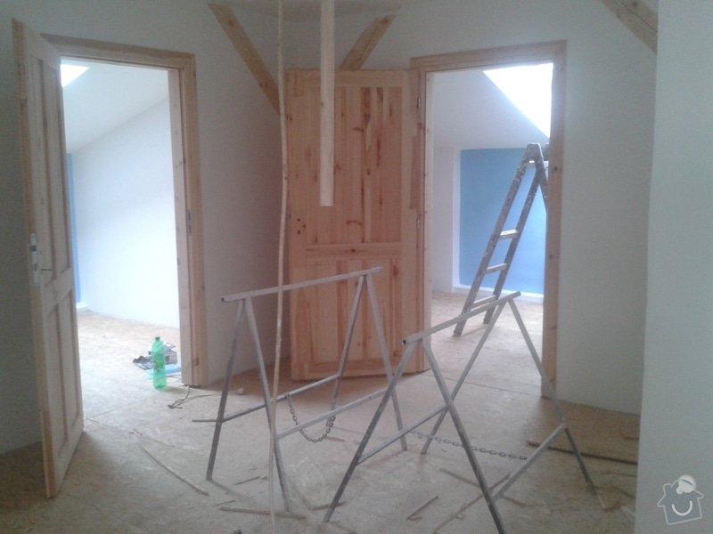 Sádrokartonářské práce - šikmá střecha: 20150524_180224