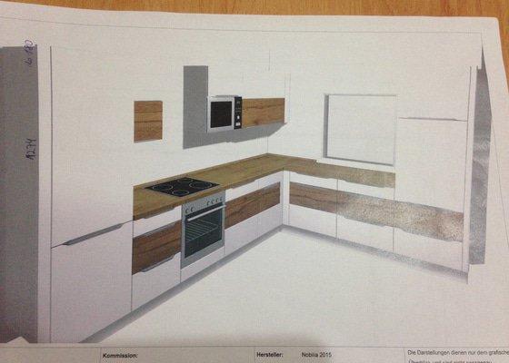 Obklad do kuchyne, posun elektrorozvodov v kuchyni, sadrokartonový podhľad pre digestor