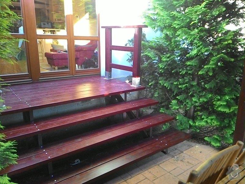 Dřevěné schody do zahrady: P_20150528_191039