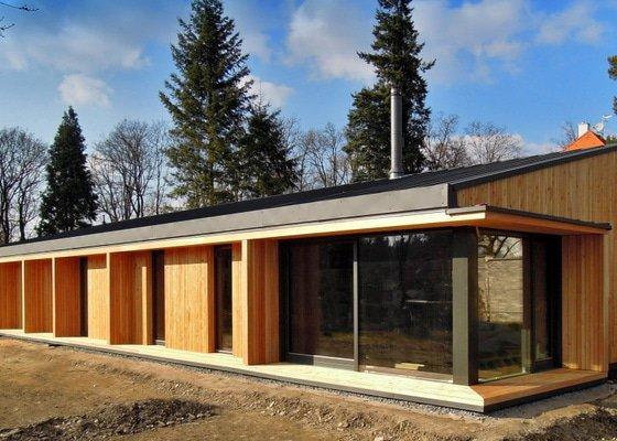 Modřínová fasáda a terasa