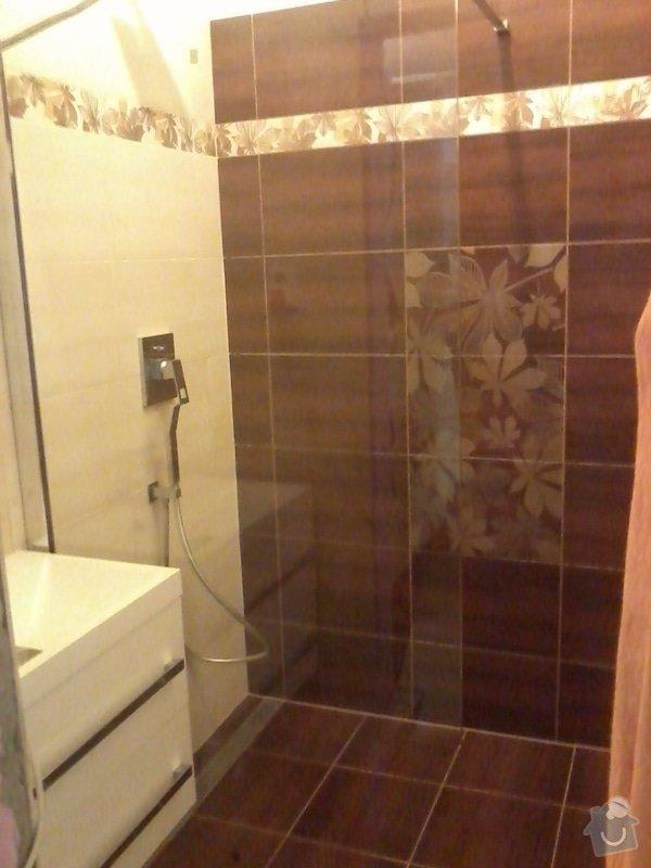 Koupelna Zednické a obkladačské práce: 007