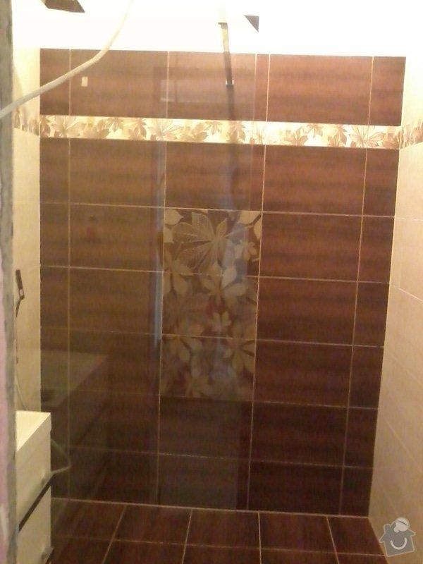 Koupelna Zednické a obkladačské práce: 004