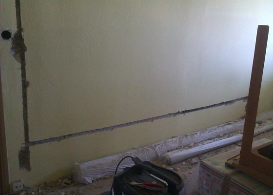 Nová elektrika v bytě 2+1,54m2