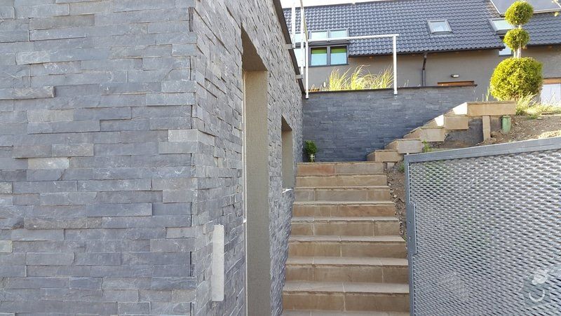 25m2 bridlicový obdklad garaze: 20150710_185142