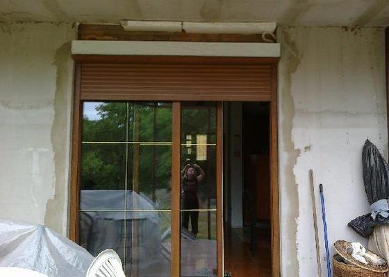 Začištění okna na terasu