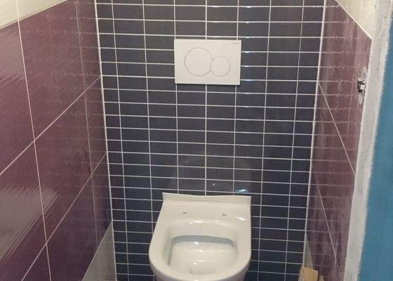 Obložení koupelny a WC, montáž sanity