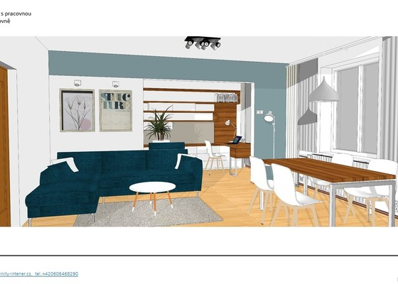 Návrh a vybavení obývacího pokoje