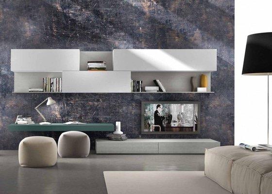 Kuchyně, obývací stěna, konferenční stolek, koupelnový nábytek
