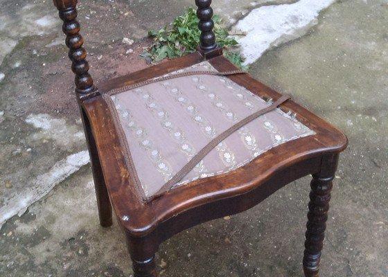Přečalounění 8 židlí