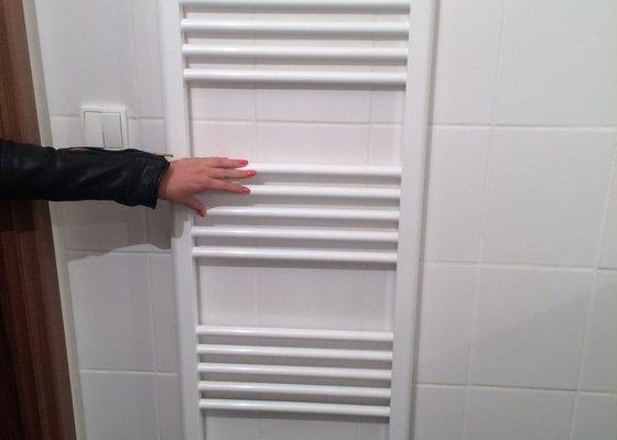 Instalace žebříku(topení) v koupelně