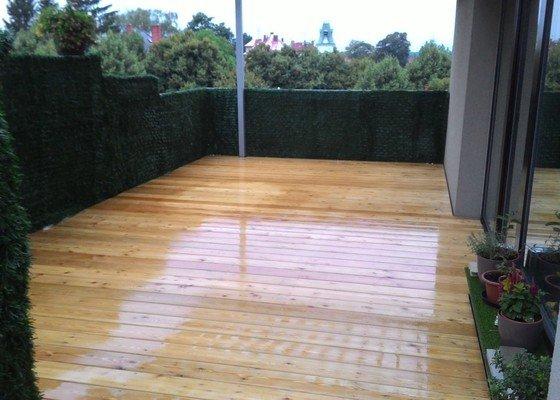 Montáž dřevěné terasy