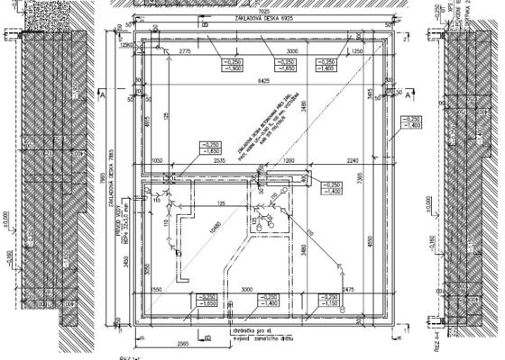 Základová deska 7 x 8  m