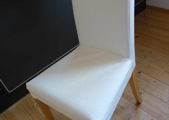 Čalounění 2 barových stoliček, 6 jídelních židlí