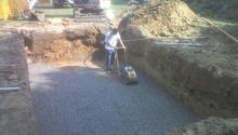 Pripravne prace pro instalaci bazenu