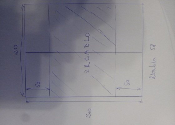 Vestavná skříň 210x240x58 (šxvxh)