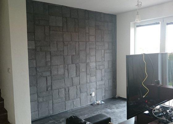 Obkladač - obývací stěna