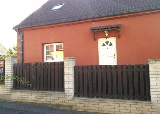 Rekonstrukce (výměna) plotu, vstupní branka, brána, venkovní chodník