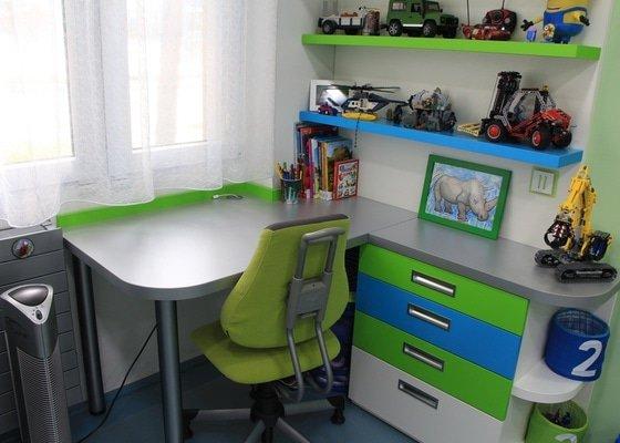 Chodba, dětský pokoj a nábytek do obývacího pokoje
