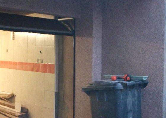 Oprava vjezdu do garaže,vyrovnani sten,finalní uprava marmolitem
