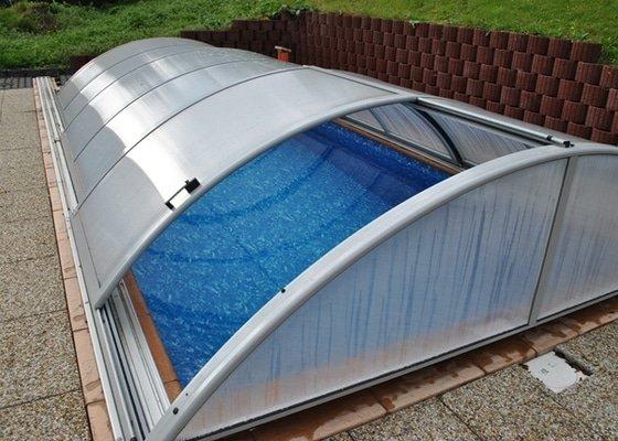 Fóliový bazén, zastřešení